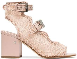 Laurence Dacade Pink Noe 70 lace sandals