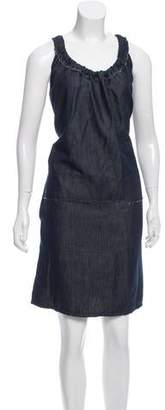 Hache Sleeveless Chambray Dress w/ Tags