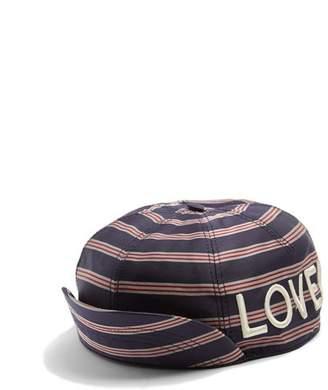 Gucci Embroidered Striped Satin Cap - Mens - Navy Multi 1ba7c0c045c7