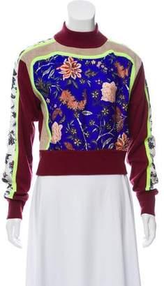 Diane von Furstenberg Wool & Silk Crop Sweater
