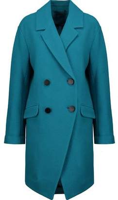 Diane von Furstenberg Finola Double-Breasted Wool-Felt Coat