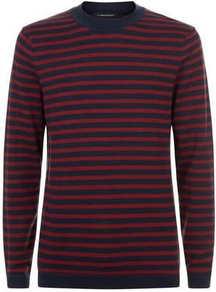 J. Lindeberg Striped Knit Sweater