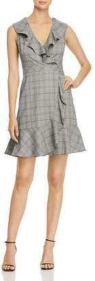 Kate Spade Mod Ruffled Plaid Mini Dress