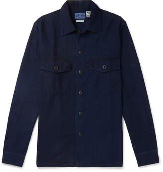 Blue Blue Japan Indigo-Dyed Cotton-Twill Shirt - Indigo