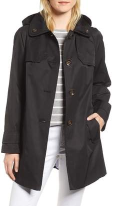 London Fog Removable Hood Rain Coat