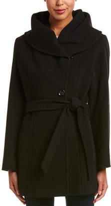Cinzia Rocca Icons Wool & Cashmere-Blend Wrap Coat