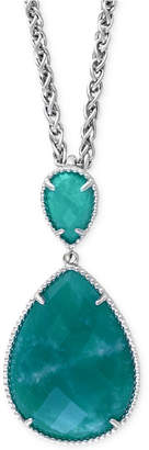 Effy Amazonite Pendant Necklace (15-3/4 ct. t.w.) in Sterling Silver