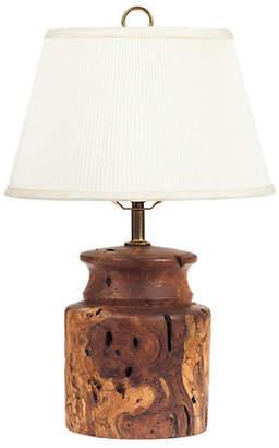One Kings Lane Vintage Burl-Wood Table Lamp