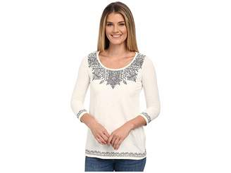 Lucky Brand Placed Embroidery Tee Women's T Shirt