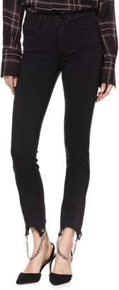 Paige Transcend - Hoxton High Waist Chain Stirrup Ankle Peg Jeans