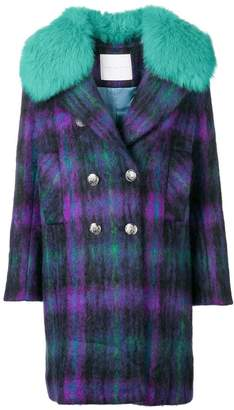 Giada Benincasa fur trimmed collar coat