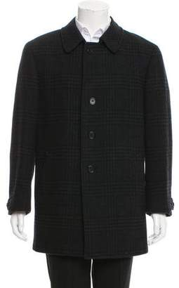 Canali Wool Button-Up Coat