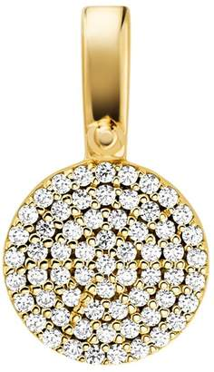 Michael Kors Sterling Silver Pave Disk Charm