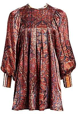 By Ti Mo byTiMo Women's Desirà ̈ Paisley Silk Mini Dress