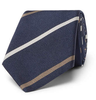 Brunello Cucinelli 6.5cm Striped Silk-Twill Tie
