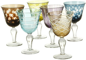 Pols Potten Mixed Cuttings Wine Glasses