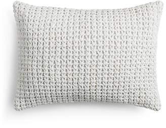 "Vera Wang Marble Shibori Crochet Decorative Pillow, 15"" x 20"""
