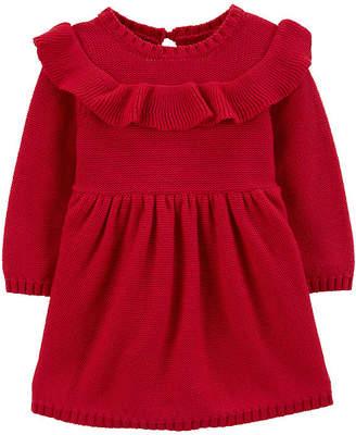 Carter's Girls Long Sleeve Sweater Dress - Baby