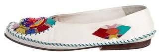 Susan Bennis/Warren Edwards Leather Embellished Flats