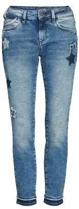 Mavi Jeans Adriana Super Skinny Ankle Jeans (Patch-Off Star Block)