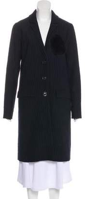 Marissa Webb Pinstripe Knee-Length Coat