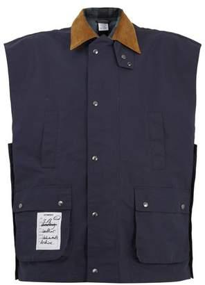Vetements - Contrast Collar Reversible Gilet - Mens - Blue