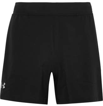 Under Armour Speedpocket Mesh-Trimmed Stretch-Shell Shorts