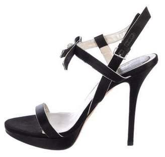 Christian Dior Satin Ankle Strap Sandals