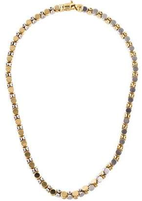 14K Spinel & Decorative Chain-Link Necklace