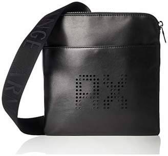 7e930be7c42c Armani Exchange Perforated Leather Men s Messenger Bag