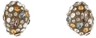 Alexis Bittar Crystal Dust Bean Stud Earrings
