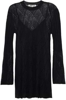 McQ Pointelle-Knit Wool-Blend Dress