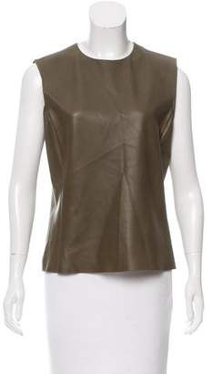 Celine Leather Sleeveless Top