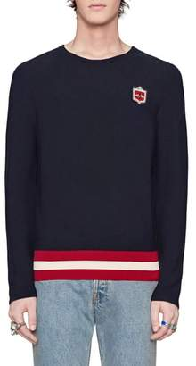 Gucci Bee Crest Crewneck Sweater