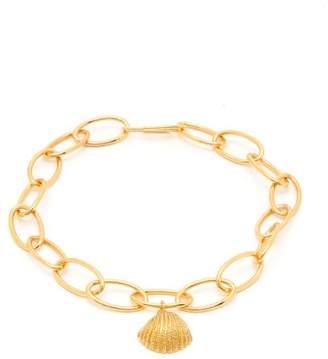 Aurelie Bidermann Shell Charm Gold Plated Anklet - Womens - Gold