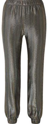 Haney - Colette Silk-blend Lamé Track Pants - Gold
