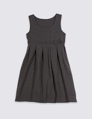 Marks and Spencer Girls' Cotton Rich Knitted Pinafore