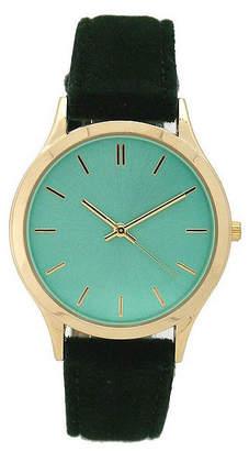 OLIVIA PRATT Olivia Pratt Velvet Womens Green Strap Watch-17459green