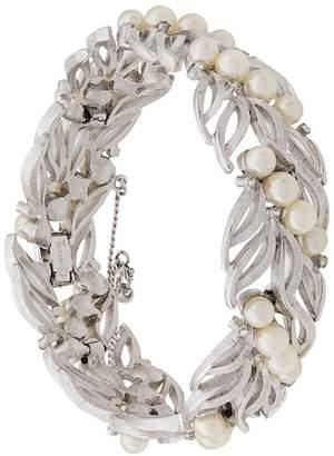 Susan Caplan Vintage 1960's Trifari leaf bracelet