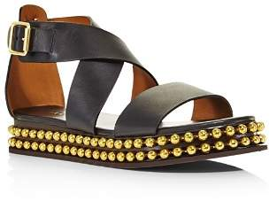 Chloé Women's Sawyer Studded Leather Platform Sandals