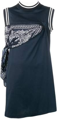 Sacai bandana print dress