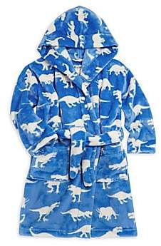 Hatley Kid's Roaming Dinosaur Fleece Robe