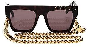Stella McCartney Women's Iconic Flat Top Tortoise Shell Sunglasses