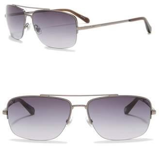 Fossil Aviator 60mm Sunglasses