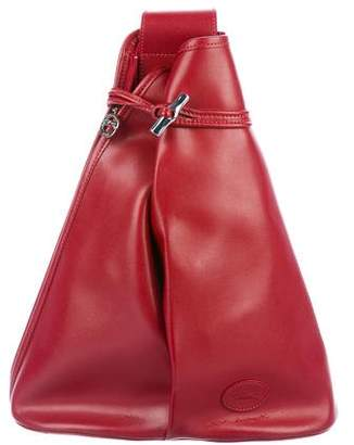 Longchamp Smooth Leather Sling Backpack