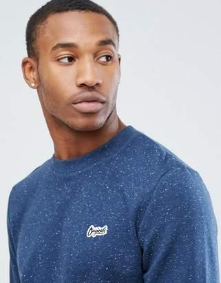 Jack and Jones Originals Sweatshirt With All Over Fleck