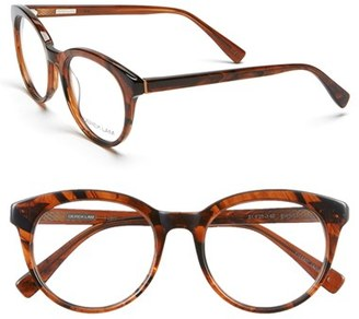 Women's Derek Lam 51Mm Optical Glasses - Brown Stripes