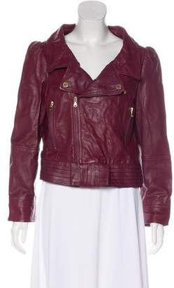 RED Valentino Leather Zip-Up Jacket w/ Tags