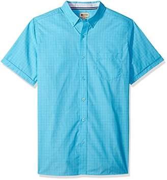 Haggar Men's Short Sleeve Shirt with Chambrey Trim