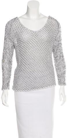 Helmut LangHelmut Lang Open Knit Long Sleeve Sweater
